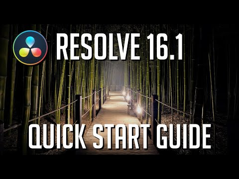 LEARN DAVINCI RESOLVE 16.1 IN 15 MINUTES - Quick Start Guide for Beginners