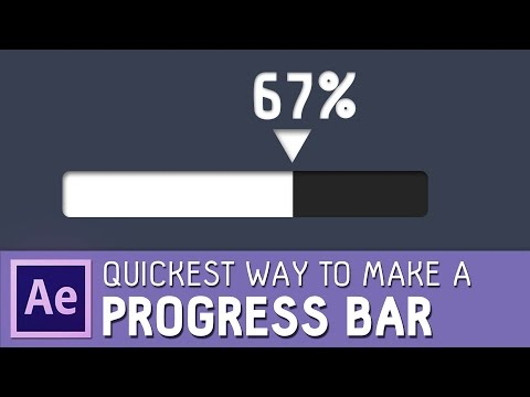 QUICKEST way to make a PROGRESS BAR in After effects tutorial ✔