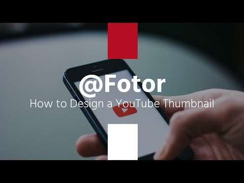 Design your own YouTube thumbnail has never been so easy at Fotor!