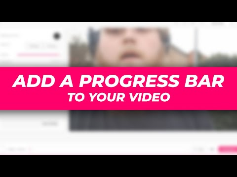 How to add a progress bar to your videos